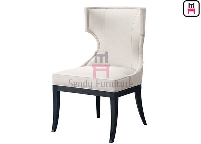 Durable Metal Frame Leather Upholstered Commercial Dining Chair